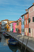 Canals in Burano. Venice, Italy