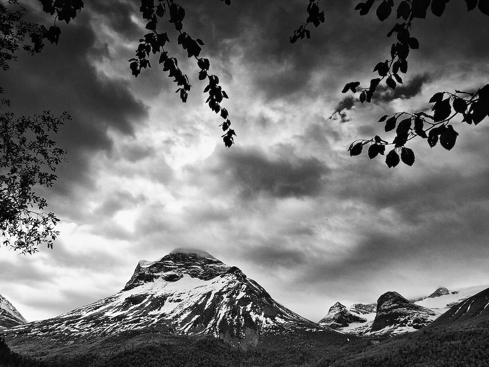 Norway - Innerdalen landscape BW