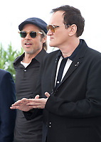 Brad Pitt and Director Quentin Tarantino at Once Upon A Time... In Holywood film photo call at the 72nd Cannes Film Festival, Wednesday 22nd May 2019, Cannes, France. Photo credit: Doreen Kennedy