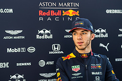 February 28, 2019 - Montmelo, BARCELONA, Spain - CATALONIA, BARCELONA, SPAIN, 28 February. #10 Pierre GASLY driver of Aston Martin Red Bull Racing during the winter test at Circuit de Barcelona Catalunya. (Credit Image: © AFP7 via ZUMA Wire)