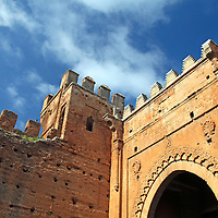Africa, Morocco, Rabat. The Chellah site of Roman ruins and ancient mosque.