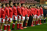 Rugby Union - 2020 Autumn Nations Cup - Group A - Wales vs England  - Parc y Scarlets<br /> <br /> Wales sing anthems<br /> in a stadium without fans because of the pandemic crisis<br /> <br /> COLORSPORT/WINSTON BYNORTH