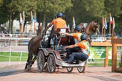 Koos De Ronde, (NED), Bilbo, Palero, Ulano, Zimba, Zimon - Driving Marathon - Alltech FEI World Equestrian Games™ 2014 - Normandy, France.<br /> © Hippo Foto Team - Jon Stroud<br /> 06/09/2014