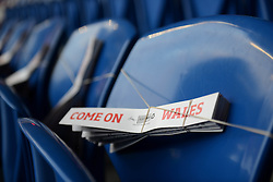 Clappers are left on seats at the Cardiff City Stadium before the European Qualifier against Andorra - Mandatory byline: Dougie Allward/JMP - 07966 386802 - 13/10/2015 - FOOTBALL - Cardiff City Stadium - Cardiff, Wales - Wales v Andorra - European Qualifier 2016 - Group B