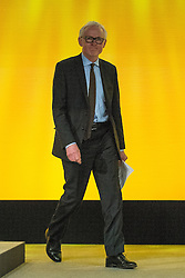 © Licensed to London News Pictures . 15/03/2015 . Liverpool , UK . NORMAN LAMB steps on the stage to deliver his speech to the conference . The Liberal Democrat Party Conference at the Arena and Conference Centre in Liverpool . Photo credit : Joel Goodman/LNP