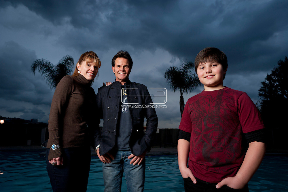 February 7th, 2012, Los Angeles, California.  Zach Callison, a 14 year-old whose CV is bulging with theatre, film, voice-overs and tv roles including Hannah Montana and Diary of a Single Mom. Zach's parents Ed, 57, and Nanette, 48.  PHOTO © JOHN CHAPPLE / www.johnchapple.com.