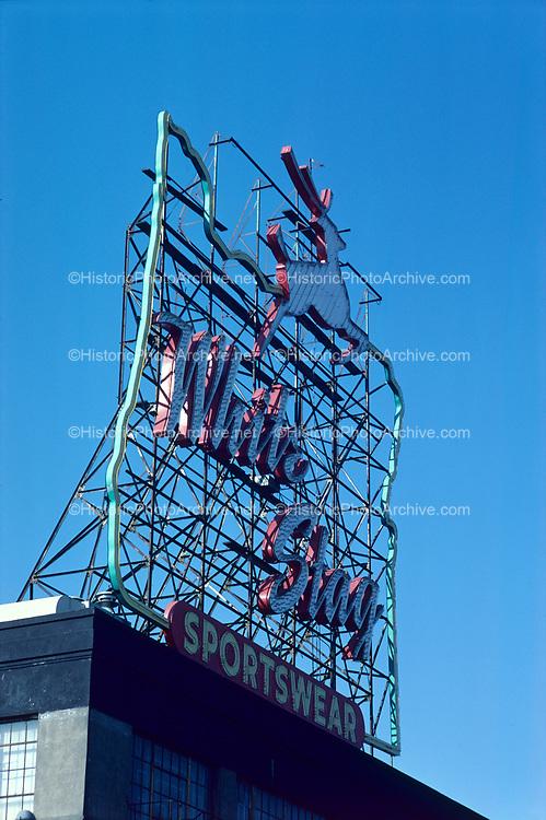 CS02287. White Stag sign. NW Burnside. October 18, 1978