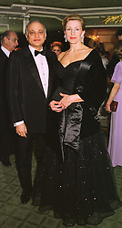 SIRDAR ALY AZIZ and MRS CHRISTINA ST.GEORGE, at a ball in London on 9th February 1999.MOG 39