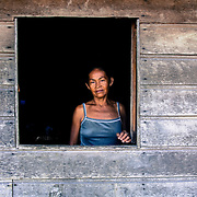 In the indigenous community of Umariaçu II,  just outside Tabatinga, Brazil, this lady has just moved from Colombia to Brazil in search for a better life on this side of the border.