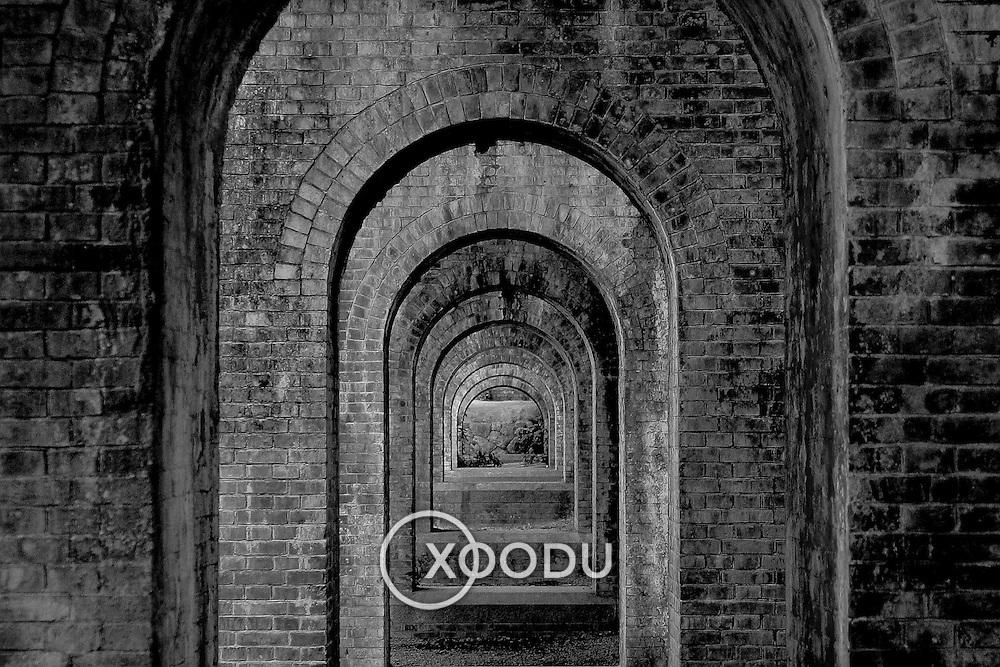 Suirokaku aqueduct arches, Kyoto, Japan (June 2004)
