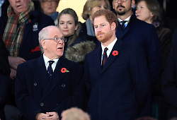 Prince Harry in the stands during the Autumn International match at Twickenham Stadium, London.