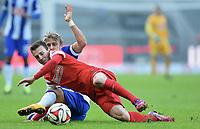 v.l. Vladimir Darida, Per Ciljan Skjelbred (Berlin)<br /> Fussball Bundesliga, Hertha BSC Berlin - SC Freiburg<br /> <br /> Norway only