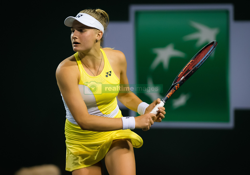 March 6, 2019 - Indian Wells, USA - Dayana Yastremska of the Ukraine in action during the first round at the 2019 BNP Paribas Open WTA Premier Mandatory tennis tournament (Credit Image: © AFP7 via ZUMA Wire)