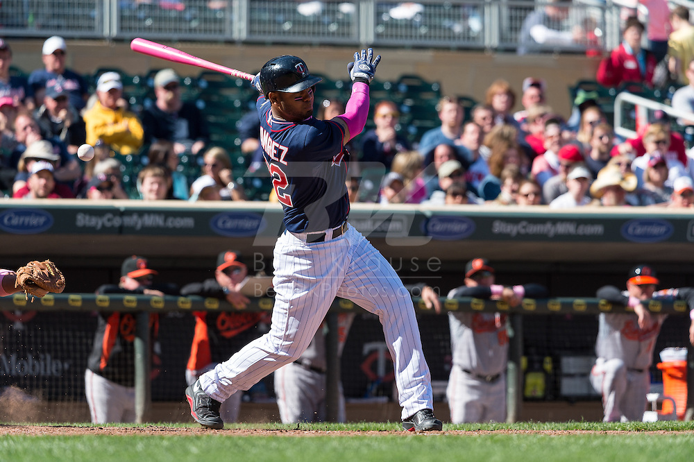 Wilkin Ramirez #22 of the Minnesota Twins bats against the Baltimore Orioles on May 12, 2013 at Target Field in Minneapolis, Minnesota.  The Orioles defeated the Twins 6 to 0.  Photo: Ben Krause