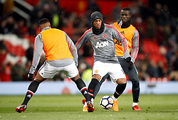 Manchester United's Anthony Martial warms up before the Emirates FA Cup, quarter final match at Old Trafford, Manchester.