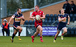 Will Hurrell of Bristol Rugby runs with the ball - Mandatory by-line: Robbie Stephenson/JMP - 02/12/2017 - RUGBY - Castle Park - Doncaster, England - Doncaster Knights v Bristol Rugby - Greene King IPA Championship