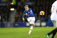 Gerard Deulofeu of Everton crosses the ball. Premier league match, Everton v Swansea city at Goodison Park in Liverpool, Merseyside on Saturday 19th November 2016.<br /> pic by Chris Stading, Andrew Orchard sports photography.