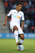 Kyle Naughton of Swansea city in action. Pre-season friendly match, Barnet v Swansea city at the Hive in London on Wednesday 12th July 2017.<br /> pic by Steffan Bowen, Andrew Orchard sports photography.