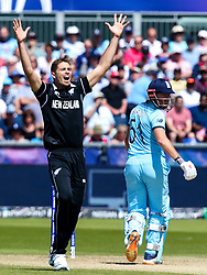 Tim Southee of New Zealand appeals for an LBW against Jonny Bairstow of England - Mandatory by-line: Robbie Stephenson/JMP - 03/07/2019 - CRICKET - Emirates Riverside - Chester-le-Street, England - England v New Zealand - ICC Cricket World Cup 2019 - Group Stage