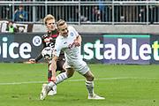 Fussball: 2. Bundesliga, FC St. Pauli - Holstein Kiel, Hamburg, 28.10.2018<br /> Mats Moeller Daehli (Pauli, l.)<br /> © Torsten Helmke