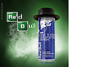 We will miss you, Heisenberg. 3D Modeling and Photoshop compositing with supplied product shot for Red Bull Twitter.