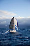 Sailboat off Oahu, Hawaii<br />