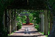 Formal garden with arbor, Palm Grove Gardens, Devonshire, Bermuda