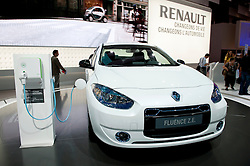 Electric plug in Renault Fluence at Paris Motor Show 2010