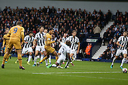 GOAL /   Dele Alli of Tottenham Hotspur scores his teams 1st goal to equalise at 1-1.  . Premier league match, West Bromwich Albion v Tottenham Hotspur at the Hawthorns stadium in West Bromwich, Midlands on Saturday 15th October 2016. pic by Andrew Orchard, Andrew Orchard sports photography.