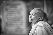 A calming, content look of a land mine victim in Cambodia.