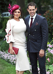 Kelly Brook and boyfriend Jeremy Parisi during day five of Royal Ascot at Ascot Racecourse.