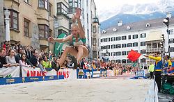 25.05.2016, Altstadt, Innsbruck, AUT, Golden Roof Challenge, Weitsprung Damen, im Bild Weitspringerin Sarah Lagger (AUT) // Long Jumper Sarah Lagger of Austria during Womens long jump at Golden Roof Challenge at the Altstadt in Innsbruck, Austria on 2016/05/25. EXPA Pictures © 2016, PhotoCredit: EXPA/ Jakob Gruber