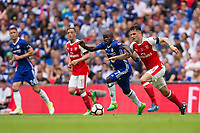 Chelsea's Ngolo Kante vies for possession with Arsenal's Granit Xhaka       <br /> <br /> <br /> Photographer Craig Mercer/CameraSport<br /> <br /> The Emirates FA Cup Final - Arsenal v Chelsea - Saturday 27th May 2017 - Wembley Stadium - London<br />  <br /> World Copyright © 2017 CameraSport. All rights reserved. 43 Linden Ave. Countesthorpe. Leicester. England. LE8 5PG - Tel: +44 (0) 116 277 4147 - admin@camerasport.com - www.camerasport.com