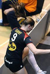 04-03-2006 VOLLEYBAL: FINAL 4 DAMES: AMVJ - PLANTINA LONGA: ROTTERDAM<br /> Longa was veel te sterk voor de dames uit Amstelveen (3-0) / Tammy Mahon<br /> Copyrights 2006 WWW.FOTOHOOGENDOORN.NL