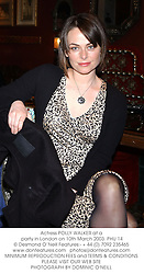 Actress POLLY WALKER at a party in London on 10th March 2003.PHU 14