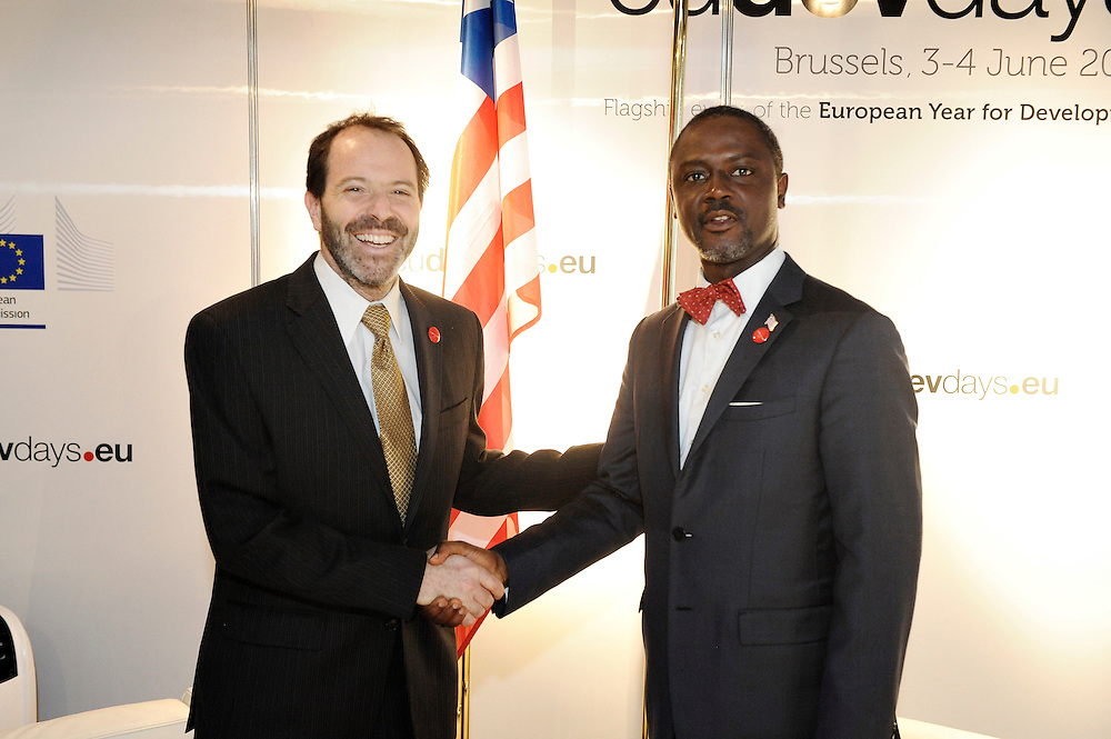 20150604- Brussels - Belgium - 04 June2015 - European Development Days - EDD  - Alex Thier Usaid and  Axel Addy Minister Liberia © EU/UE