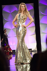 December 6, 2019, Atlanta, Georgia, USA: Madison Anderson, Miss Puerto Rico 2019 competes on stage in her evening gown during the MISS UNIVERSE® Preliminary Competition at the Marriott Marquis in Atlanta on Friday, December 6, 2019.  The Miss Universe contestants are touring, filming, rehearsing and preparing to compete for the Miss Universe crown in Atlanta. Tune in to the FOX telecast at 7:00 PM ET on Sunday, December 8, 2019 live from Tyler Perry Studios in Atlanta to see who will become the next Miss Universe. HO/The Miss Universe Organization (Credit Image: © Patrick Prather/El Nuevo Dias via ZUMA Press)