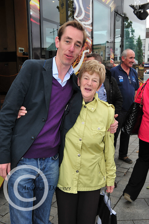 Mary Murray from Balliansloe got to meet Ryan Tubridy  on Hector's Day as RTE 2Fm broadcast live from Galway for the entire day to celebrate  Hector's first Breakfast show on RTE  2Fm. Photo:Andrew Downes