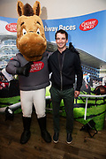25/09/2018 Repro free: <br />  GG the mascot and National Hunt jockey Patrick Mullins  at the launch of Galway Race course  details of their new and exciting three-day October Festival that takes place over the Bank Holiday weekend, Saturday 27th, Sunday 28th and Monday 29th continuing racing and glamour into the Autumn.<br />   Each of the three race days offers something for all the family to enjoy, with a special theme attached to each day, together with fantastic horse racing, live music, delicious hospitality, entertainment and of course the meeting of old friends and new at Ballybrit.  <br /> Halloween Family Fun <br /> On Saturday 27th October come along with your children and grand children and enjoy the 'Spooktacular' Halloween themed family fun day with lots of entertainment including a fancy-dress competition, Halloween games and face painting to mention but a few!! All weekend children under 16 years of age have free admission. <br /> Race in Pink <br /> As part of this new October Festival and with-it being Breast Cancer Awareness month, Galway Racecourse have partnered with The National Breast Cancer Research Institute to host a dedicated fundraiser on Sunday 28th October called 'Race in Pink'.  <br /> <br /> Student Race Day in aid of the Voluntary Services Abroad <br /> Monday sees the return of our annual 'Student Race Day' in conjunction with the Voluntary Services Abroad (a medical aid charity run by the fourth-year medical students of NUI, Galway), and the NUIG Rugby Club.  Each year, this fundraising day for the student organisations raises a tremendous amount of money for their chosen projects including the VSA annual summer volunteer trip to Africa where they use the funds raised to help projects at the hospitals they visit. <br />  National hunt racing on Saturday kicks off at 2.05pm with racing Sunday and Monday off at 1.05pm. Adult admission on all three days is €15 with children under 16 years of age, free. For more information please chec