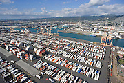 Matson terminal, Sand Island, Honolulu, Hawaii