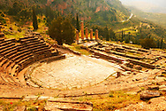 4th century BC theatre of Delphi, archaeological site, Greece, .<br /> <br /> If you prefer to buy from our ALAMY PHOTO LIBRARY  Collection visit : https://www.alamy.com/portfolio/paul-williams-funkystock/delphi-site-greece.html  to refine search type subject etc into the LOWER SEARCH WITHIN GALLERY.<br /> <br /> Visit our ANCIENT GREEKS PHOTO COLLECTIONS for more photos to download or buy as wall art prints https://funkystock.photoshelter.com/gallery-collection/Ancient-Greeks-Art-Artefacts-Antiquities-Historic-Sites/C00004CnMmq_Xllw
