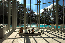 """SPA, BELGIUM - Health and beauty spas the world over, take their name from the original spa in Spa, Belgium where visitors have been coming for hundreds of years to """" take the waters """" at Les Thermes de Spa  . (Photo © Jock Fistick)"""