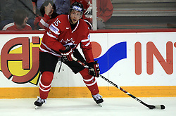 Dany Heatley of Canada at play-off round quarterfinals ice-hockey game Norway vs Canada at IIHF WC 2008 in Halifax,  on May 14, 2008 in Metro Center, Halifax, Nova Scotia,Canada. (Photo by Vid Ponikvar / Sportal Images)