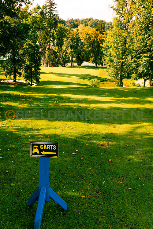 18-09-2015: Golf & Spa Resort Konopiste in Benesov, Tsjechië.<br /> Foto: De uitdagende 18de