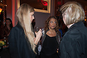 LAURA BAILEY; DAME ZAHA HADID; DAME MARJORIE SCARDINO;, The Veuve Clicquot Business Woman Of The Year Award, celebrating women's excellence in business and commitment to sustainability. Claridge's, Brook Street, London, 22 April 2013