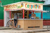 Ice Cream, Gelado stand, Trinidad, Cuba 2020 from Santiago to Havana, and in between.  Santiago, Baracoa, Guantanamo, Holguin, Las Tunas, Camaguey, Santi Spiritus, Trinidad, Santa Clara, Cienfuegos, Matanzas, Havana