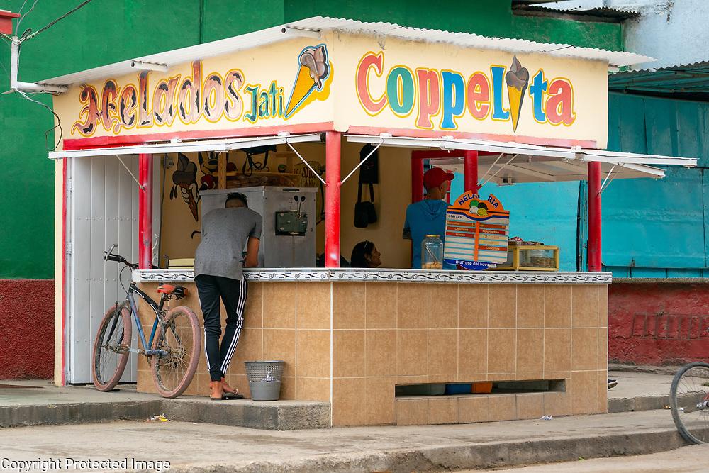 Ice Cream, Gelado stand, Trinidad, Cuba 2020 from Santiago to Havana, and in between.  Santiago, Baracoa, Guantanamo, Holguin, Las Tunas, Camaguey, Santi Spiritus, Trinidad, Santa Clara, Cienfuegos, Matanzas, Havana