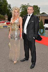 CLAIRE JOHNSON and  DANIEL LAMBERT at the Grand Prix Ball in aid of The Prince's Trust held at The Hurlingham Club, Ranelagh Gardens, London on 6th July 2016.