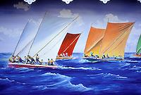 Sainte Luce - Gommier (traditional boat) race - Martinique (French Département d'outre Mer - DOM) - France<br /> French West Indie - Antilles françaises<br /> Caribbean