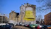 Graffiti na budynku na ulicy Przy Moście w Krakowie, Polska<br /> Graffiti on a building on Przy Moście Street in Cracow, Poland